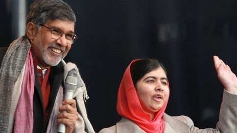 Malala and Kailash Satyarthi receive joint Nobel award