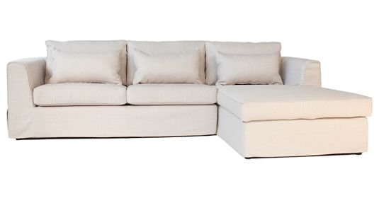 CORICRAFT Manhattan Slip Cover Couch ( Thuli Oatmeal )SLO  2880(L) / 1920(W) / 730(H)     from 14995