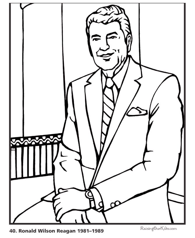 coloring pages of us president - photo#38