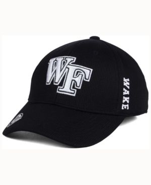 Top of the World Wake Forest Demon Deacons Black White Booster Cap - Black S/M