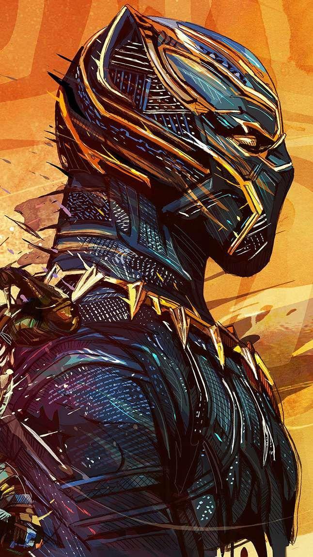 Black Panther 2 Art Iphone Wallpaper Marvel Filmek Marvel Bosszuallok