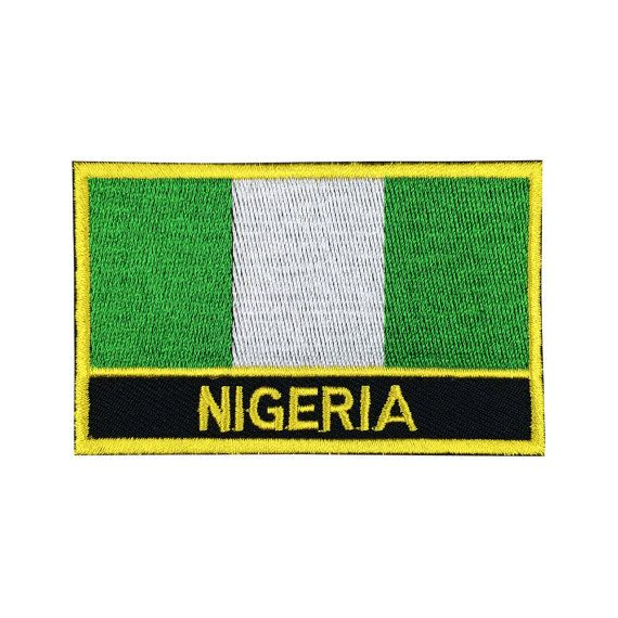 Nigeria Flag Patch Embroidered Patch Gold by FlagPatchKingdom