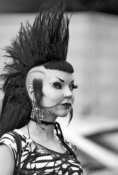 Strangedayshavefoundme666 Deathrocker Goth Girl With A