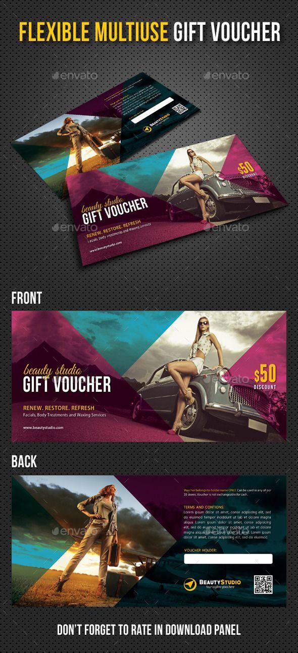 Flexible Multiuse Gift Voucher Design Tempalte Download: http://graphicriver.net/item/flexible-multiuse-gift-voucher-v04/12926446?ref=ksioks