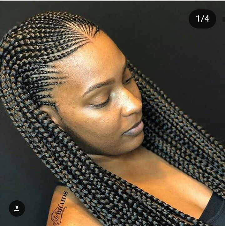 French Braids French Braids In 2019 African Braids Hairstyles
