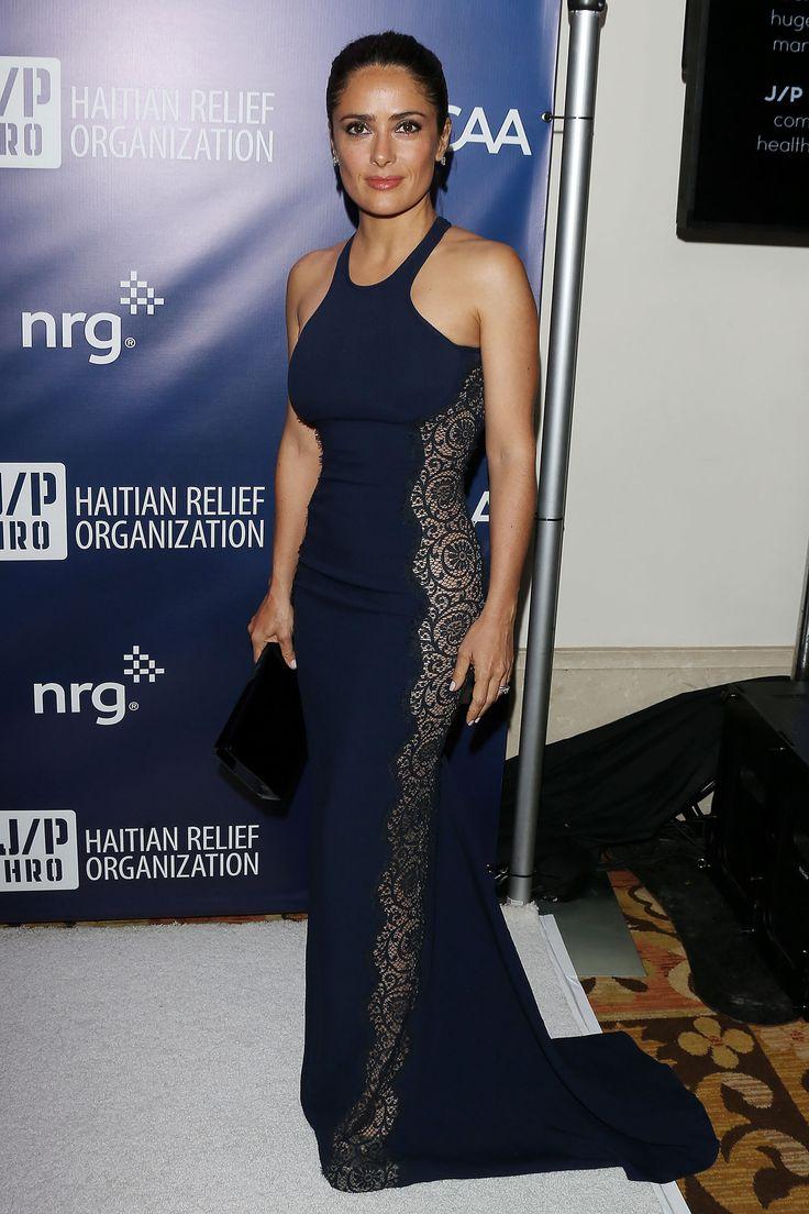 Salma Hayek Wearing Stella McCartney at 2015 Sean Penn & Friends Help Haiti Home Gala in Los Angeles
