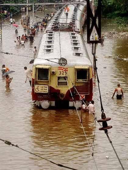 Mumbai Rain  #Train #Rain