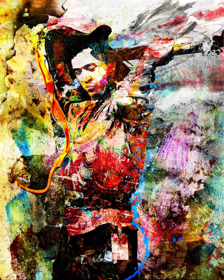 Stevie Ray Vaughan Art SRV Original Painting Art Print
