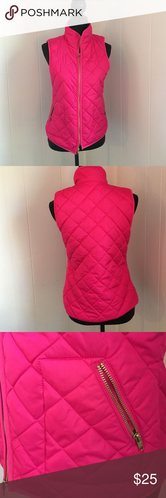 Hot Pink Old Navy Vest Perfect Condition! Only worn a hand full of times. No visible wear. Happy to bundle! Old Navy Jackets & Coats Vests