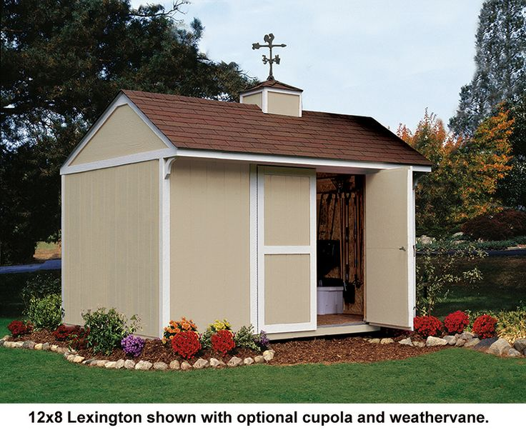 12x8 Lexington Shown With Optional Cupola And Weathervane