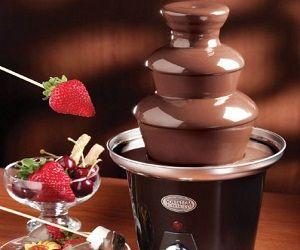 This Mini Chocolate Fountain will definitely make your chocolate dreams come true! It's chocolate heaven! The Mini Chocolate Fountain works ...