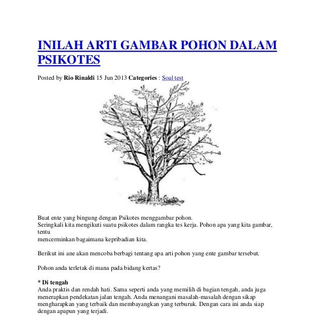 Inilah Arti Gambar Pohon Dalam Psikotes Ari Iswanto Contoh Tes Psikologi Menggambar Tni Polri Youtube Contoh Soal Psikote Di 2020 Cara Menggambar Gambar Matematika