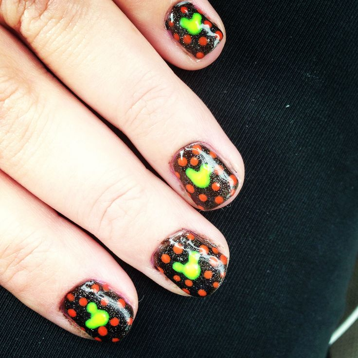 Mickey Mouse Halloween Nail Art The Best Inspiration For Design