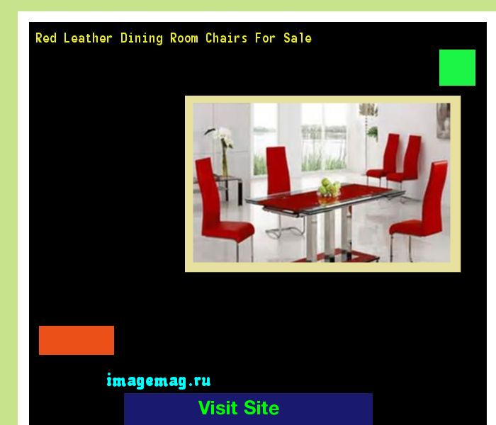 Red Leather Dining Room Chairs For Sale 191536