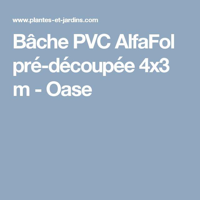 Bâche PVC AlfaFol pré-découpée 4x3 m  - Oase