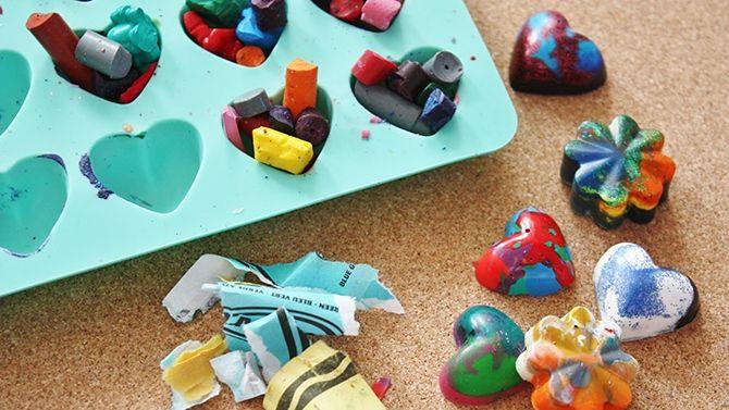 DIY - Crayons de cire maison - projet brico