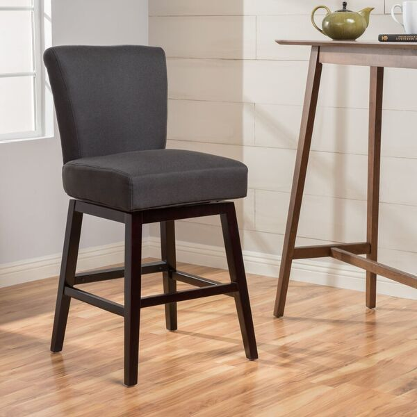 Tracy 28 Inch Fabric Swivel Counter Stool By Christopher Knight
