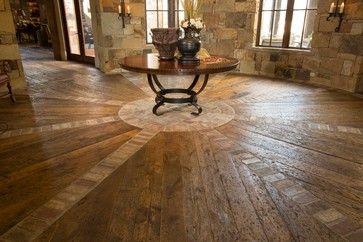 Tuscan Villa - mediterranean - entry - houston - Ellis Custom Homes LLC--- love the brick and wood floors