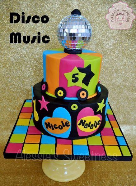 Disco Birthday Cake