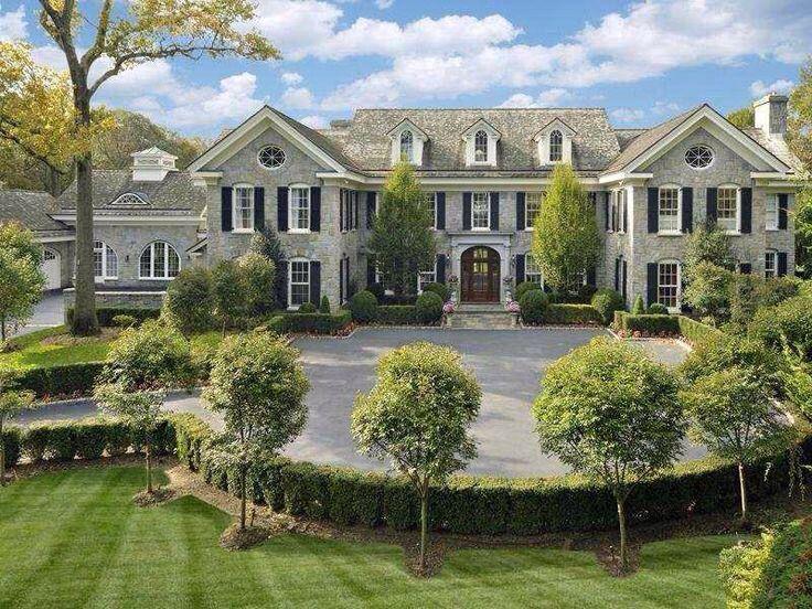 Massive stone mansion