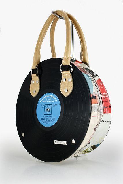 momaboma bag with vinyl discs
