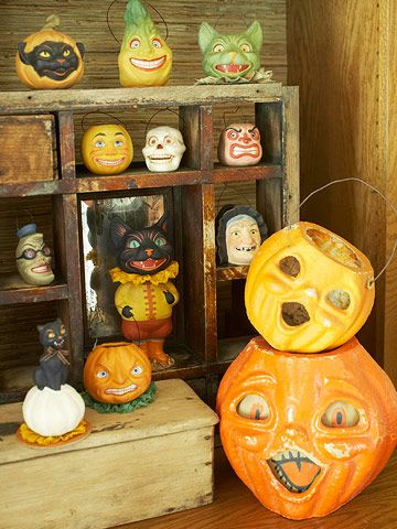 Halloween Decorations used to be so fun and whimsical. All the art has been taken out of the decorations today. We need more vintage and whimsical Halloween decorations!