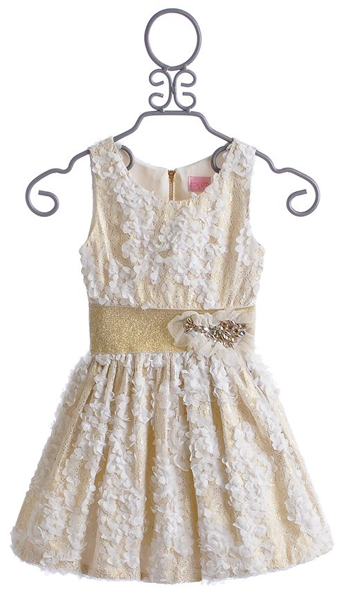 Zoe Cream Lux Tween Party Dress ~ Great for the Perfect Christmas Party