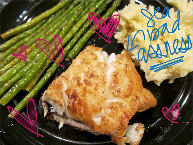 Buttery and super crispy pan seared chilean sea bass for Turkish sea bass recipe