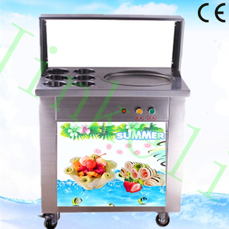 2017 free air ship CE 110V/220V LED 304 stainless steel auto maquina de helados fry thai ice cream roll machine a creme glacee