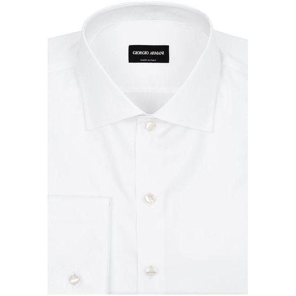 Giorgio Armani Micro Tonal Dot Shirt ($680) ❤ liked on Polyvore featuring men's fashion, men's clothing, men's shirts, men's dress shirts, mens print shirts, mens cotton dress shirts, mens polka dot dress shirt, mens dress shirts and mens patterned shirts