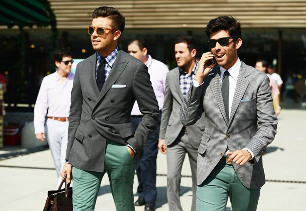 the green pants and the mix - Tommy Ton's Street Style: Pitti