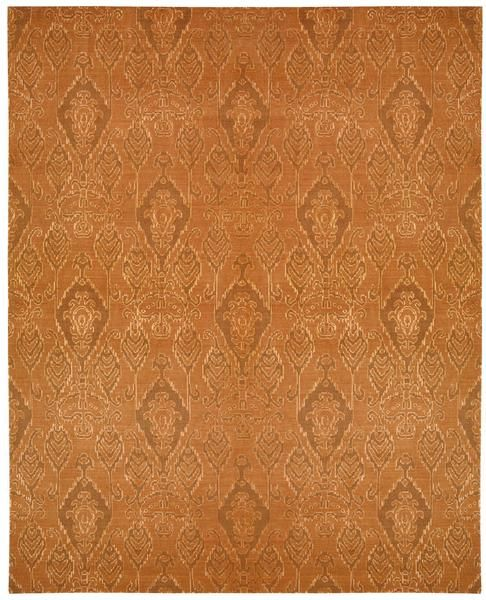 Nourison Silk Infusion SIF03 Dark Rust Area Rug – Incredible Rugs and Decor
