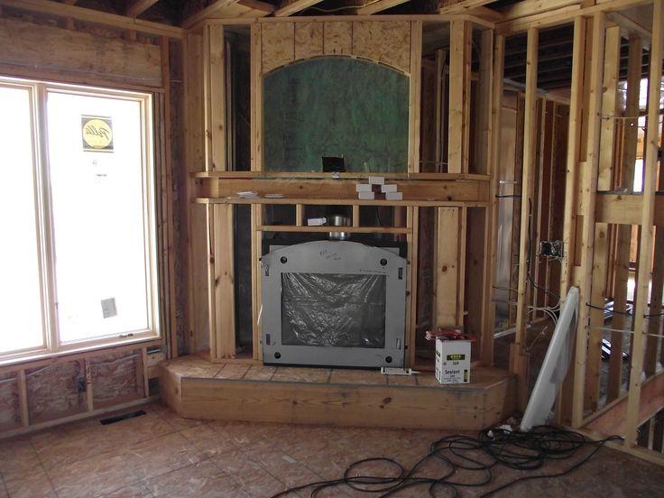 corner fireplace with tv above - Corner Gas Fireplace Design Ideas