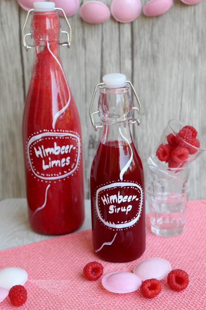 Himbeersirup und -Limes Rezept zum Selbermachen - Familienrezepte zum Selberkochen.
