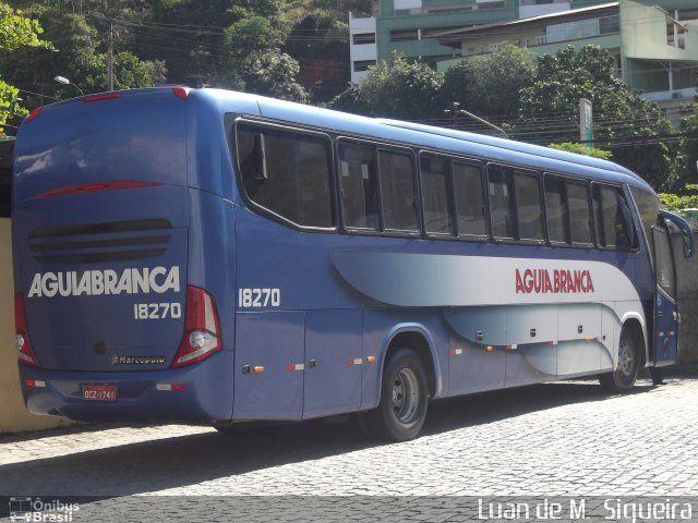Ônibus da empresa Viação Águia Branca, carro 18270, carroceria Marcopolo Viaggio G7 1050, chassi Mercedes-Benz O-500RS. Foto na cidade de Cachoeiro de Itapemirim-ES por Luan de M.  Siqueira, publicada em 24/07/2012 12:50:24.