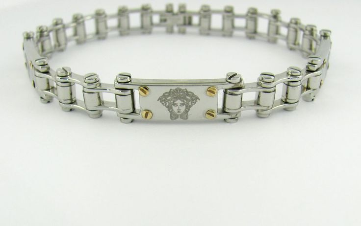 versace Bracelet Laser Engraving Medusa Biker Style 316L Stainless Steel Jewelry  #NewinBox #BangleBracelet
