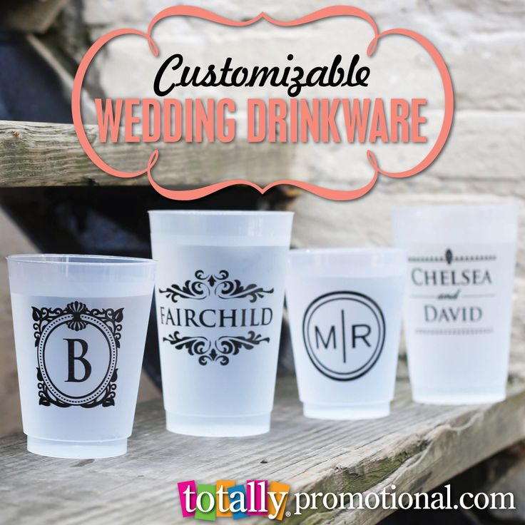 Our low price customizable drinkware is the perfect addition to ANY #wedding!  TOTALLY make a statement at your wedding with these cups!