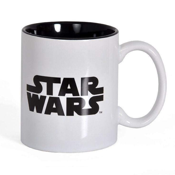 Mug Star Wars blanc et noir. Un style sobre et épuré de quoi vous donner du peps chaque matin au petit déjeuner. #mug #star wars