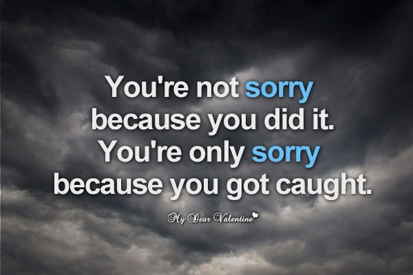 If You Re Not First You Re Last Quote: You're Not Sorry Because You Did It. You're Only Sorry