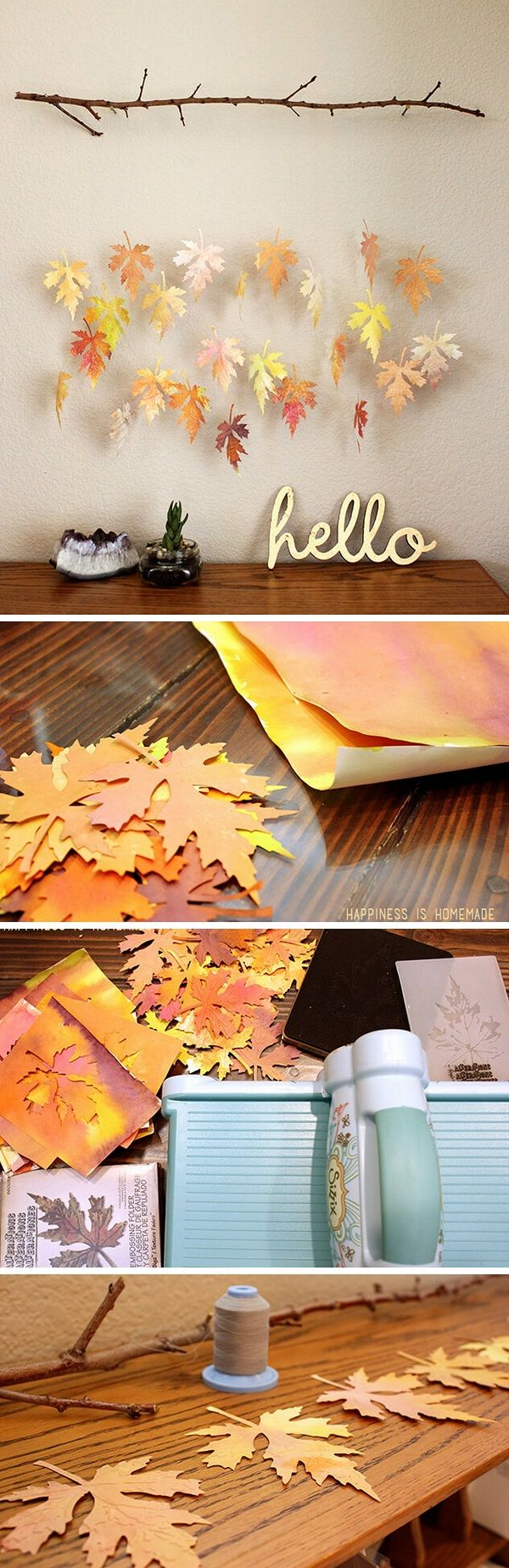It is made out of paper and a branch. If you are looking a project to do with your kids, then this really kids friendly, and extra hands will come handy. Check out the tutorial that shows you how to make this.