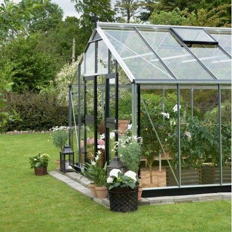 pingl par ma serre de jardin sur serres en verre serre. Black Bedroom Furniture Sets. Home Design Ideas