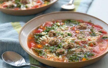 Italian Wedding Soup with Orzo and Meatballs
