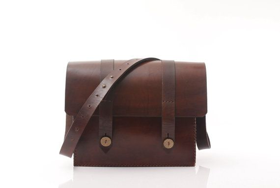 Agarapati Leather Postman Bags pc07 by agarapatidesign on Etsy