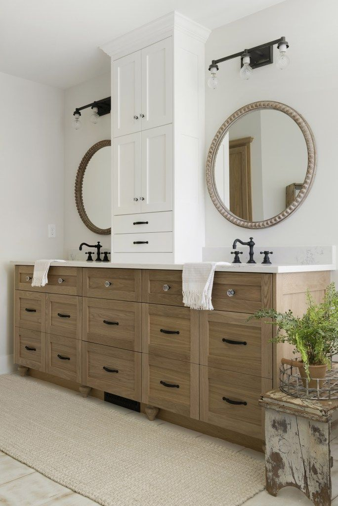 Modern French Country Home Master Bathroom Vanity Small