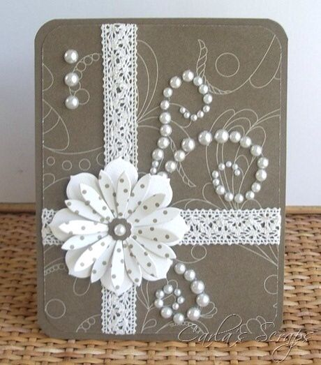 236 best cards images on pinterest card ideas card crafts and crafts pretty handmade card with layered flower using polka dot paper for top die cut m4hsunfo