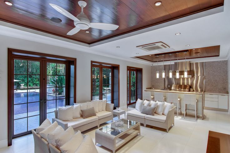 Take a stoll down the columned & flower-covered trallis walkway that leads you to a 2 story guest house that overlooks the pool area; featuring the same finishes & attention to detial as the main residence, a large private bedroom, full kitchen & more!  #SupremeAuction #LuxuryAuction #Miami #CoralGables #MiamiMansion #MiamiRealEstate #Florida #FloridaRealEstate #ResortStyle #Auction #KoiPond #MediterraneanMansion