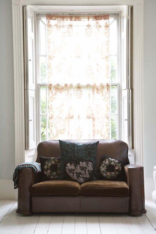 Lace Panel Pearl LoweDark HouseLace CurtainsModern InteriorsPlayroomCouchDesignersDining Room