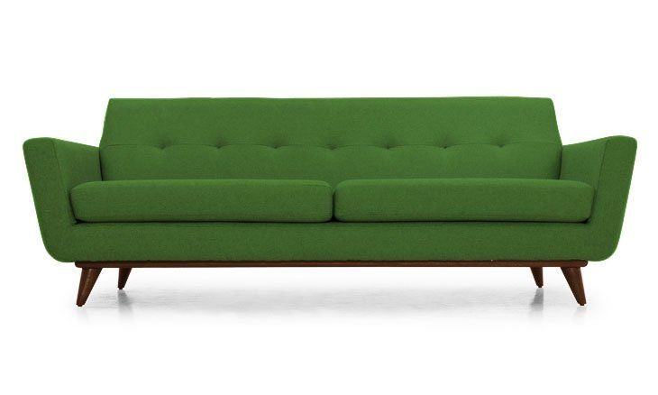 We're moving into a new house, and I've become infatuated with the idea of a green sofa in our new living room. However, the only green sofas I've come across have been green velvet sofas, which don't exactly suit our style or lifestyle. I was starting to wonder if non-velvet green couches even existed. Of course they do, and here are the 10 best options I could find. And if you are in the market for a green velvet, there are 10 of those, too!