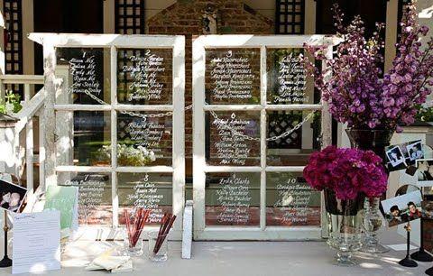 Tables: Seats Plans, Escort Cards, Vintage Window, Window Panes, Old Window, Seats Arrangements, Seats Charts, Guest Book, Window Frames