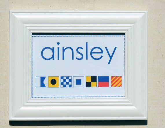 Name in Nautical Flag Alphabet Beach and Coastal by NauticalABC, $8.50